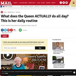 What does the Queen ACTUALLY do all day? This is her daily routine