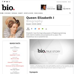 Queen Elizabeth I - Biography - Queen - Biography.com