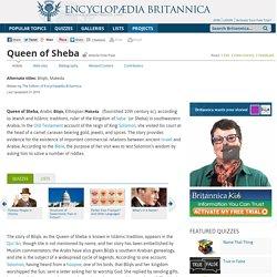 Queen of Sheba (queen of Saba)