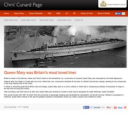 Queen Mary Homepage - Chris' Cunard Page - World War 2 hero, Cunard's Queen Mary