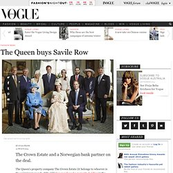The Queen buys Savile Row