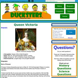 Queen Victoria for Kids