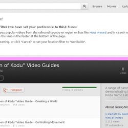 """Queen of Kodu"" Tutorials"