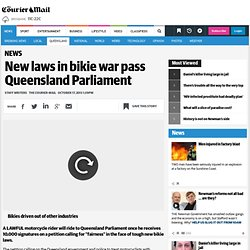 New laws in bikie war pass Queensland Parliament