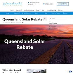 Queensland Solar Rebate - What You Need to Know.