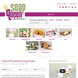 Three DIY Laundry Soap Recipes