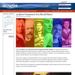 15 Queer Composers You Should Know « On WFMT