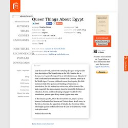 Queer Things About Egypt by Douglas Sladen