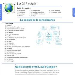 Quel est notre avenir, avec Google ? - 21e siècle