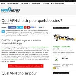 Quel VPN choisir pour quels besoins?