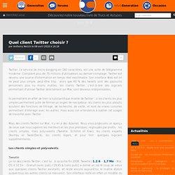 Quel client Twitter choisir ?