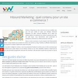 Quel contenu pour un site e-commerce ?