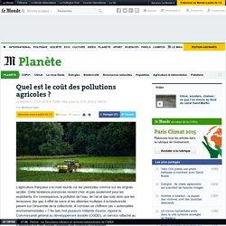 Quel est le coût des pollutions agricoles ?