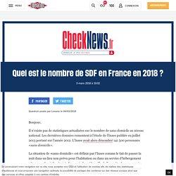 (12) Quel est le nombre de SDF en France en 2018?