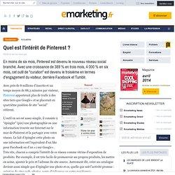 Quel intérêt pour Pinterest