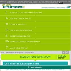 Quel modèle de business plan utiliser