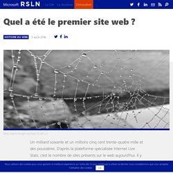 Quel a été le premier site web ?