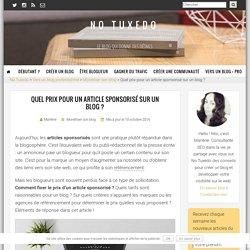 Quel prix pour un article sponsorisé sur un blog ?