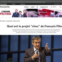 """Quel est le projet """"choc"""" de François Fillon ?"""