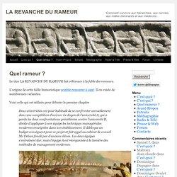 LA REVANCHE DU RAMEUR