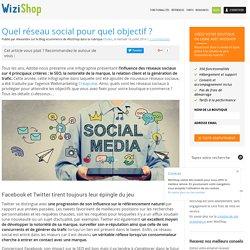 Quel réseau social pour quel objectif ?