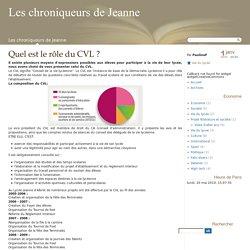 Quel est le rôle du CVL ? - Les chroniqueurs de Jeanne