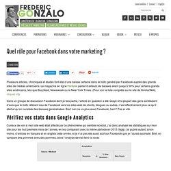 Quel rôle pour Facebook dans votre marketing ? F. Gonzalo