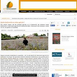 ACTU ENVIRONNEMENT 26/06/12 Quelle biodiversité en milieu agricole ?