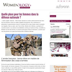 Quelle place pour les femmes dans la défense nationale