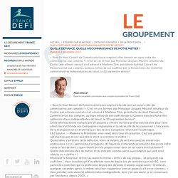 QUELLE DEFIANCE, QUELLE MECONNAISSANCE DE NOTRE METIER ! - France Défi