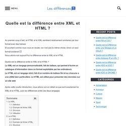 Quelle est la différence entre XML et HTML? – Les differences