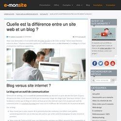 Quelle est la différence entr un site et un blog ?