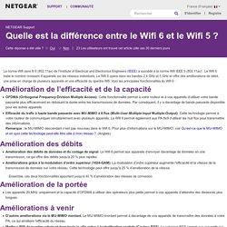 Quelle est la différence entre le Wifi 6 et le Wifi 5?