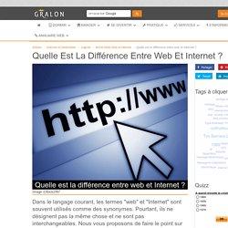 Quelle est la différence entre web et Internet ?