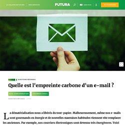 Quelle est l'empreinte carbone d'un e-mail ?
