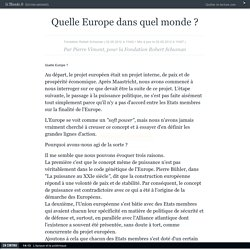Quelle Europe dans quel monde ?