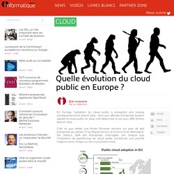 Quelle évolution du cloud public en Europe ?