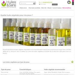 Quelle huile végétale pour ma peau ?