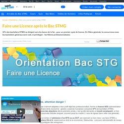Quelle Licence choisir après le Bac STMG ?