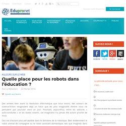 Quelle place pour les robots dans l'éducation ?