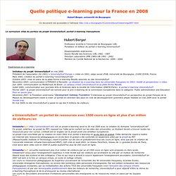 Quelle politique e-learning en 2007