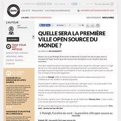 Quelle sera la première ville open source du monde ?