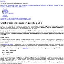 Quelle présence numérique du CDI ?