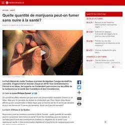Quelle quantité de marijuana peut-on fumer sans nuire à la santé?