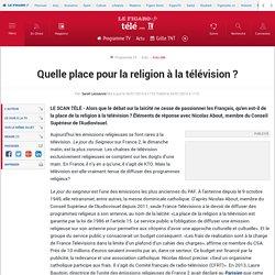 Quelle place pour la religion à la télévision?