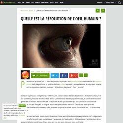Quelle est la résolution de l'oeil humain ?