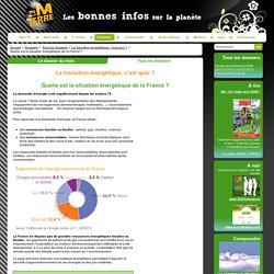 Quelle est la situation énergétique de la France ?