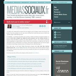 Médias sociaux > Quelle charte pour les médias sociaux ?