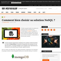 Quelle solution NoSQL choisir ?