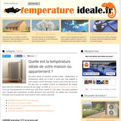 Amenager un container pearltrees - Temperature ideale appartement ...